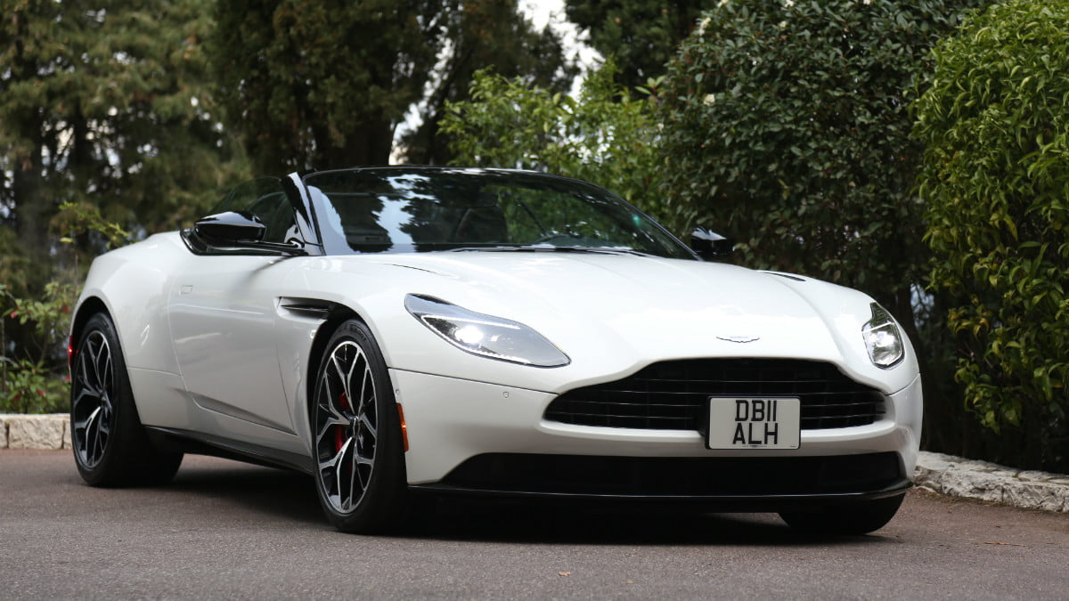 test-driving the 2019 aston martin db11 volante in nice, france